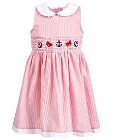 Good Lad Toddler Girls Nautical Smocked Dress