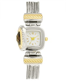 Women's Flip Cover Two-Tone Bracelet Watch 25mm, Created for Macy's