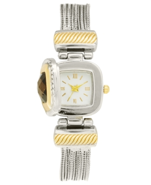 UPC 732996050621 product image for Charter Club Women's Flip Cover Two-Tone Bracelet Watch 25mm, Created for Macy's | upcitemdb.com