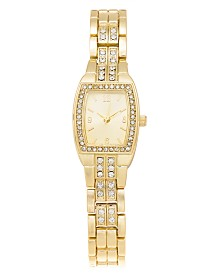 Charter Club Women's Crystal & Gold-Tone Bracelet Watch 20mm, Created for Macy's