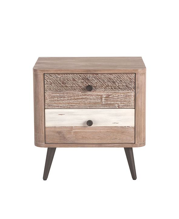 "World Interiors Newport Acacia Wood Night Chest in Multiple Finishes - 24"" x 18"" x 24"""
