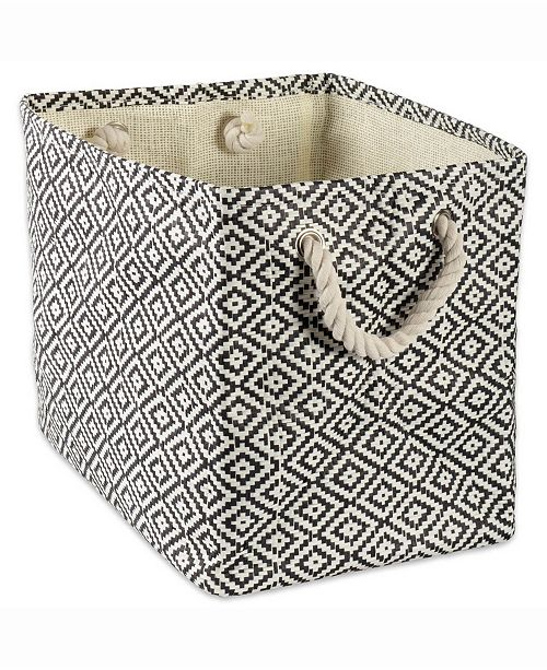 Design Import Paper Bin Geo Diamond, Rectangle