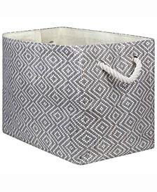 Design Import Paper Bin Diamond Basket Weave, Rectangle