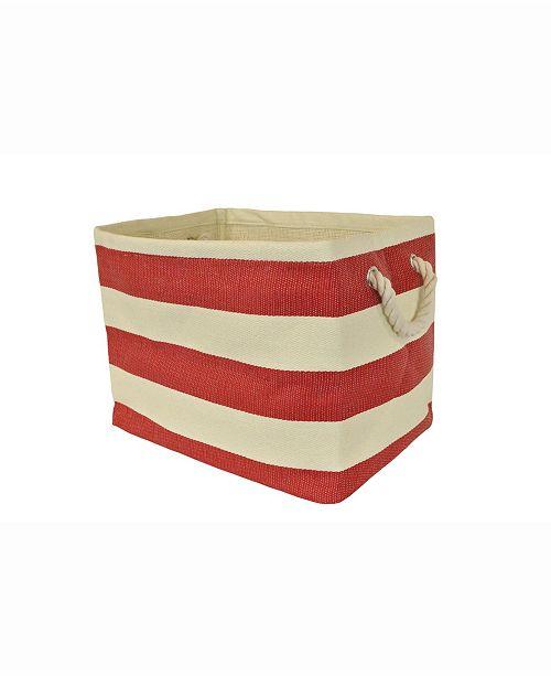 Design Import Paper Basket Stripe, Rectangle