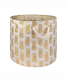 Storage Bin Pineapple, Round