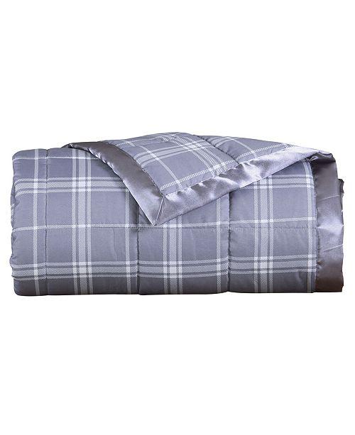LCM Home Luxury Microfiber Plaid Down Alternative Blanket