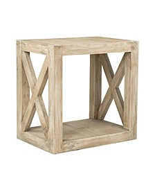 Locust Rubberwood Accent Table
