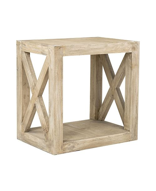 East At Main Locust Rubberwood Accent Table