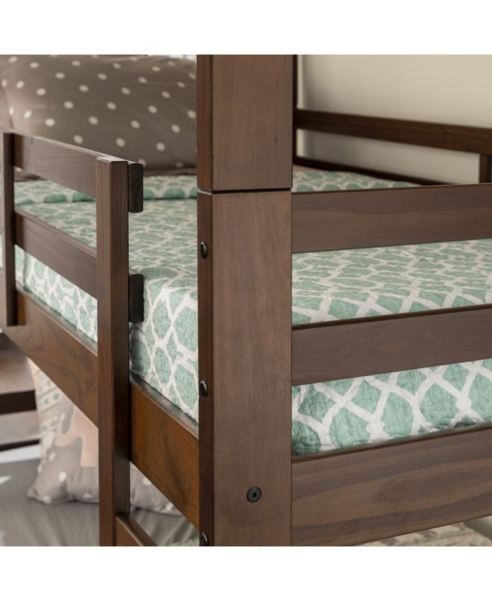 Walker Edison Solid Wood Triple Bunk Bed & Reviews - Furniture - Macy's