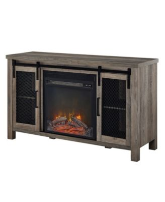 """48"""" Rustic Farmhouse Fireplace Tv Stand"""