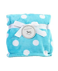 3 Stories Trading Fleece Polka Dot Baby Blanket