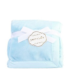 Solid Coral Fleece Baby Blanket with Satin Border