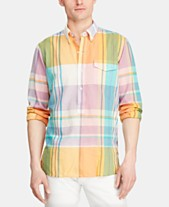95a8764d Polo Ralph Lauren Men's Custom Fit Plaid Madras Shirt