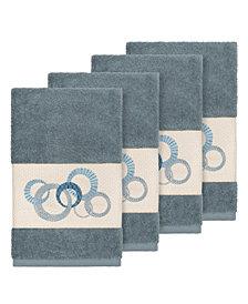 Linum Home Turkish Cotton Annabelle 4-Pc. Embellished Hand Towel Set