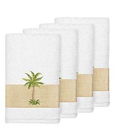 Turkish Cotton Colton 4-Pc. Embellished Hand Towel Set