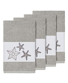 Turkish Cotton Lydia 4-Pc. Embellished Hand Towel Set