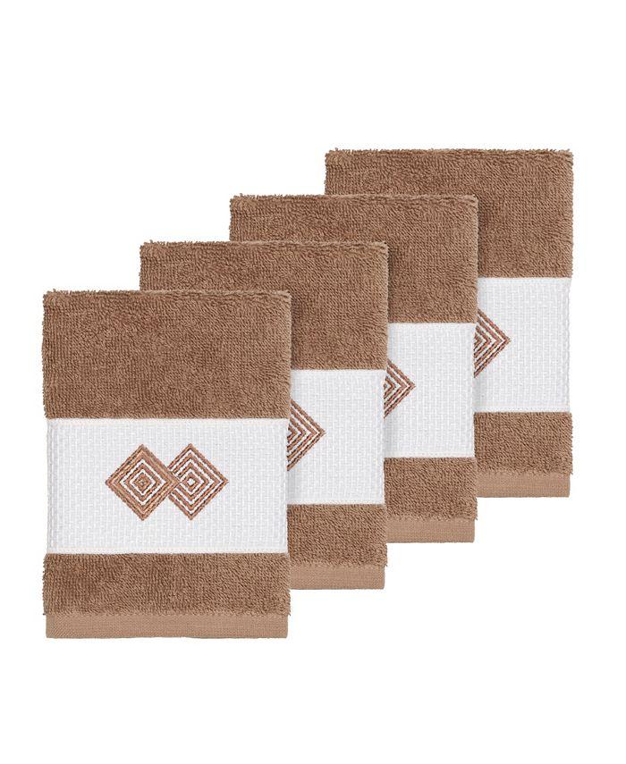 Linum Home - Turkish Cotton Noah 4-Pc. Embellished Washcloth Set