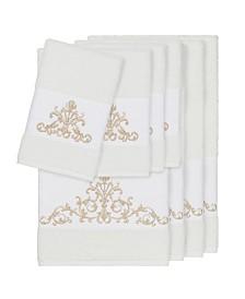 Linum Home Turkish Cotton Scarlet 8-Pc. Embellished Towel Set