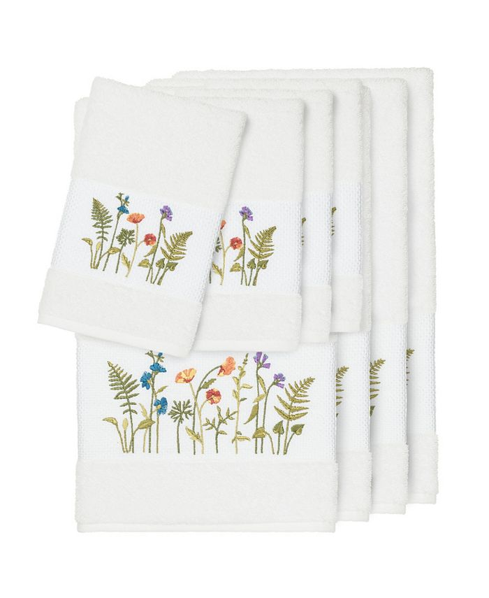Linum Home - Turkish Cotton Serenity 8-Pc. Embellished Towel Set