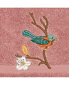 Turkish Cotton Springtime Embellished Washcloth