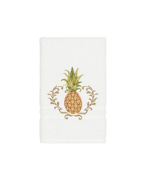 Linum Home Turkish Cotton Welcome Embellished Hand Towel