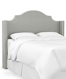 Skylands Collection Paulina Cal King Wingback Headboard, Quick Ship, Created for Macy's