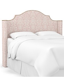 Skylands Collection Paulina Queen Wingback Headboard, Quick Ship, Created for Macy's