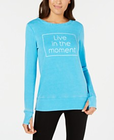Ideology Live In The Moment Graphic Strappy-Back Top, Created for Macy's