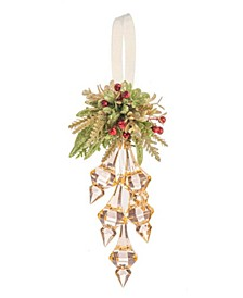 Kissing Krystals Mistletoe Champagne Finial Cluster, Exclusive to Macy's