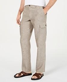 Tasso Elba Men's Chambray Linen Cargo Pants, Created for Macy's