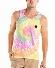 South Sea American Flag Tie Dye Crewneck Tank