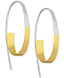 Essentials Two-Tone Threader Earrings in Silver- & Gold-Plate