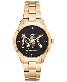 Michael Kors Women's Gold-Tone Stainless Steel Bracelet Watch 38mm