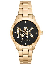 b8e6310ff8eb Michael Kors Women s Gold-Tone Stainless Steel Bracelet Watch 38mm