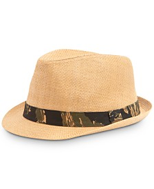 Levi's® Men's Straw Fedora with Camouflage Band