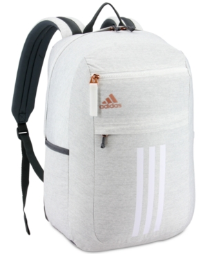 9758d7dda4dd Adidas League 3-Stripe Backpack in Jersey White/Rose Gold