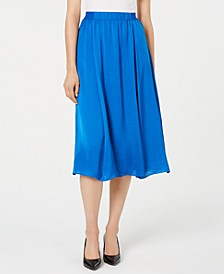Washed-Satin A-Line Skirt, Created for Macy's