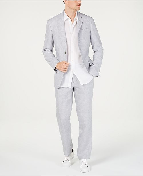 Tasso Elba Men's Linen Suit Separate Collection, Created for Macy's