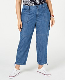 Plus Size Chelsea Cargo Jeans, Created for Macy's