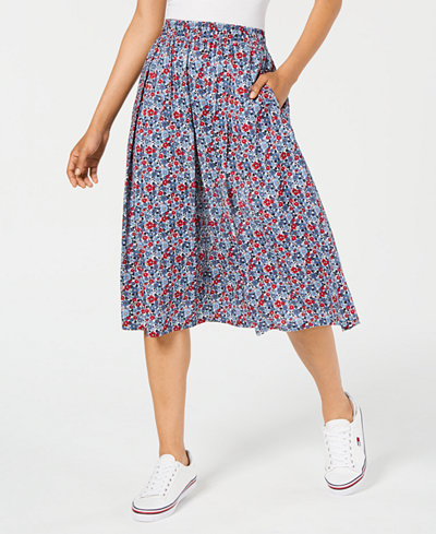 Tommy Hilfiger Printed Cotton Skirt, Created for Macy's