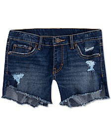 Levi's® Big Girls Star-Print High-Low Hem Denim Shorts