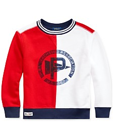 Polo Ralph Lauren Little Boys Cotton Terry Graphic Sweatshirt