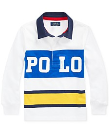 Polo Ralph Lauren Little Boys Cotton Jersey Graphic Rugby Shirt