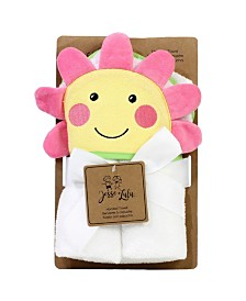 Happy Flower Hooded Bath Towel for Baby