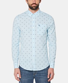 Original Penguin Men's Palm-Print Shirt