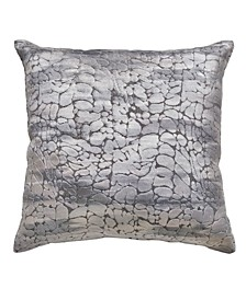 "CLOSEOUT! 20""x20"" Textured Velvet Decorative Pillow"