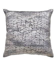 "Home Design Studio 20""x20"" Textured Velvet Decorative Pillow"