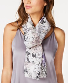 Vince Camuto Rustic Peony Silk Oblong Scarf