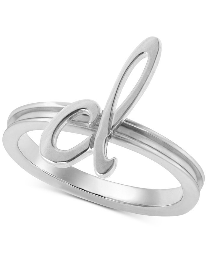 Alex Woo - Autograph Letter Ring in Sterling Silver