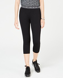 Michael Michael Kors Logo-Waist Leggings, Regular & Petite